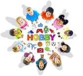 Group of Children and Hobby Concept — Stock Photo