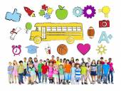Group of Children and Education Concept — Stock Photo