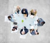 Business People Around Conference Table — Stock Photo