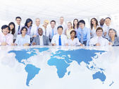 Business people at the Global Meeting — Stock Photo