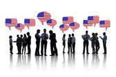 People Discussing About North America — Stock Photo