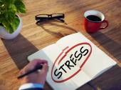 Businessman Brainstorming About Stress — Stock Photo