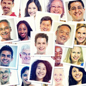 Picture Of Multi-Ethnic People Smiling — Stock Photo