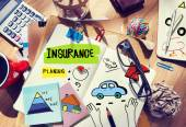 Note Pad and Insurance Concept — Stock Photo