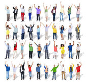 People with Arms Raised — Stock Photo