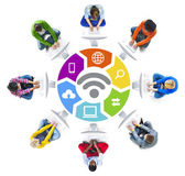 People and WIFI Concepts — Stock Photo