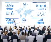 Business Presentation With Infographic — Stock Photo