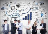 Business people Communications — Stock Photo