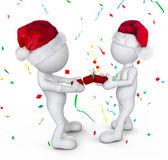 Two person celebrating on christmas — ストック写真
