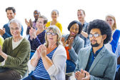 Cheerful People Clapping with Gladness — Stock Photo