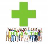 People Holding word Health — ストック写真