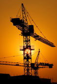 Construction of major housing project — Stock Photo