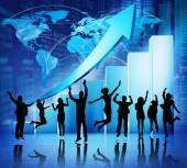 Business people Celebrating — Stock Photo