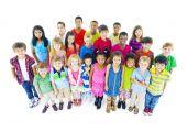 Multi-ethnic Chidrend in casual wear — Foto de Stock