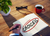 Businessman Brainstorming About Choices — Foto de Stock