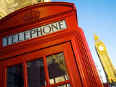 Phone booth in londen — Stockfoto