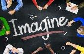 人々 し、の概念を想像します。 — ストック写真