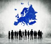 Business People With Europe Cartography — Stock Photo