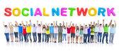 Large Group of Student Communication — Stock Photo
