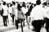 Menschen, die pendeln in hong kong — Stockfoto