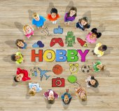 Group of Multiethnic Children with Hobby — Stock Photo