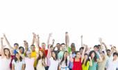 Large Group of People Celebrating — Foto Stock