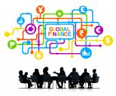 Business People Discussing About Global Finance — Stock Photo