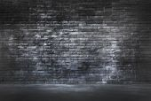 Brick Wall and Cement Floor — Stock Photo