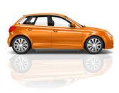 Orange Sedan — Stock Photo