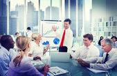 Business People Working and smiling — Stock Photo