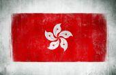 National Flag Of Hong Kong — Stock Photo