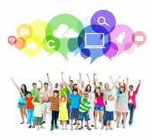 People and Social Networking concept — Stockfoto