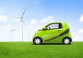 Electric Green Car — Stock Photo