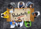 People and Single Word Productivity — Stock Photo