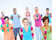 Healthy People in Fitness — Stock Photo