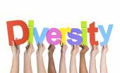 Hands Holding Word Diversity — Stock Photo