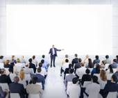 Group Of Business People Listening To A Speech — Stock Photo