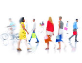 Group of Busy People Shopping — Foto de Stock