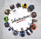 Group of People with Infrastructure Concept — Stockfoto