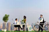 Environmentally green office in city — Stock Photo