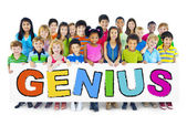 Group of Children with Genius Concept — Stock Photo