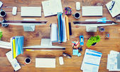 Contemporary Office Desk — Stock Photo