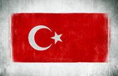 National Flag Of Turkey — Stock Photo