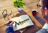 Businessman Brainstorming About Achievement — Stock Photo