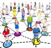 People and Social Networking And Connecting concept — Stock Photo