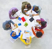 Group of People Discussing — Stock Photo