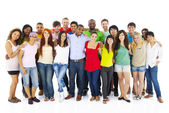 Large Group of People Holding Hand — Stock Photo
