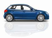 Blue 3D Hatchback Car Illustration — Stock Photo