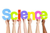 Multi Ethnic People Holding Science — Stock Photo