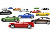 Variety of Car Collection — Stock Photo
